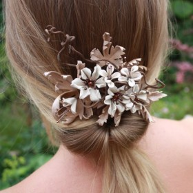 Burnished Bronze Comb in 'ivory and lace'