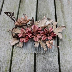 Burnished Bronze Comb in tawny pink and pale copper